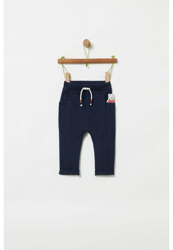 Niebieskie spodnie dresowe OVS na co dzień, z motywem z bajki