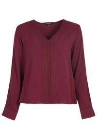 Czerwona bluzka TOP SECRET z aplikacjami, na zimę, elegancka