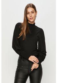 Czarna bluzka Jacqueline de Yong casualowa, z golfem, długa