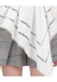 SELF PORTRAIT - Asymetryczna bluzka z koronką. Okazja: do pracy. Kolor: biały. Materiał: koronka. Długość rękawa: długi rękaw. Długość: długie. Wzór: koronka. Styl: elegancki