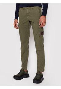 Aeronautica Militare Spodnie materiałowe 211PA1437CT2847 Zielony Regular Fit. Kolor: zielony. Materiał: materiał