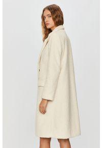 Kremowy płaszcz Answear Lab bez kaptura, wakacyjny