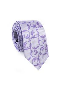 Fioletowy krawat Giacomo Conti elegancki