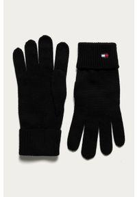 Czarne rękawiczki TOMMY HILFIGER