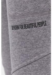 Drykorn - Spodnie Boldly. Kolor: szary. Materiał: bawełna, dzianina