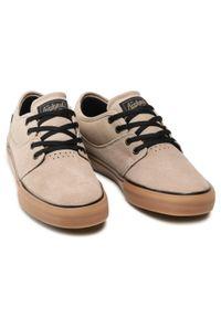 Globe - Sneakersy GLOBE - Mahalo GBMAHALO Seasame/Gum 14329. Okazja: na spacer, na co dzień. Kolor: brązowy. Materiał: skóra, zamsz. Szerokość cholewki: normalna. Styl: elegancki, casual. Sport: turystyka piesza