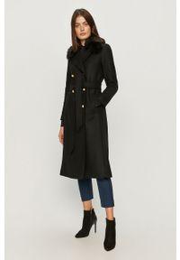 Czarny płaszcz TwinSet na co dzień, bez kaptura