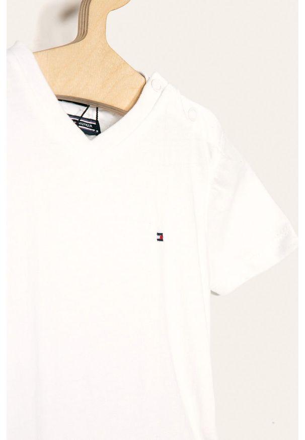 Biały t-shirt TOMMY HILFIGER casualowy, na co dzień