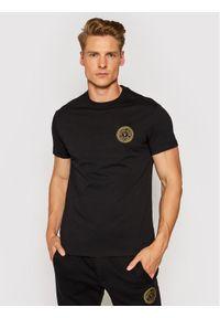 Versace Jeans Couture T-Shirt Vemblem S Embro 71GAHT10 Czarny Regular Fit. Kolor: czarny