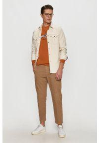 Pepe Jeans - Bluza Olaf. Okazja: na co dzień. Kolor: pomarańczowy. Wzór: nadruk. Styl: casual
