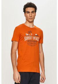 Pomarańczowa piżama Henderson z nadrukiem