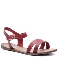 Czerwone sandały Via Ravia