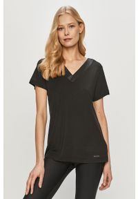 Czarna bluzka Calvin Klein Underwear gładkie, na co dzień, casualowa