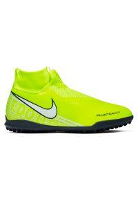 Buty piłkarskie dla dzieci Nike Phantom Vision Academy Dynamic Fit TF AO3292. Zapięcie: sznurówki. Materiał: syntetyk, guma, materiał. Szerokość cholewki: normalna. Sport: piłka nożna