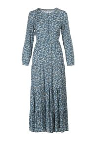 Niebieska długa sukienka Born2be