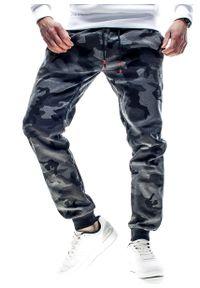 Szare spodnie dresowe Recea moro