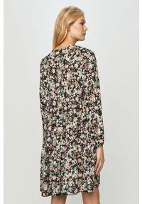 Czarna sukienka Haily's na co dzień, w kwiaty, prosta, mini