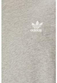 Szara bluza nierozpinana adidas Originals z aplikacjami, z okrągłym kołnierzem, na co dzień, casualowa