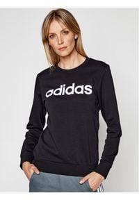 Adidas - adidas Bluza Essentials Linear DP2363 Czarny Slim Fit. Kolor: czarny