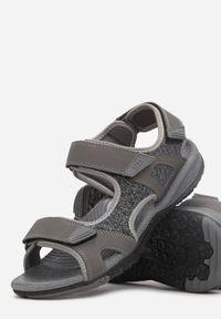 Born2be - Szare Sandały Nepheshi. Nosek buta: otwarty. Zapięcie: rzepy. Kolor: szary. Materiał: tkanina, materiał, guma. Styl: sportowy