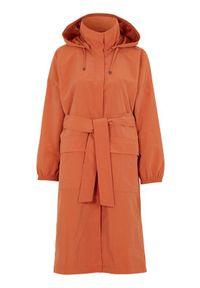 Cellbes Parka z paskiem do wiązania rdzawy female brązowy/pomarańczowy 46/48. Kolor: pomarańczowy, brązowy, wielokolorowy. Długość: długie. Wzór: aplikacja. Styl: sportowy