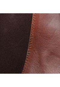 Brązowe buty zimowe Togoshi eleganckie, z cholewką