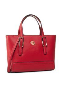 Czerwona torebka klasyczna TOMMY HILFIGER klasyczna
