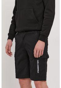 Czarne szorty Karl Lagerfeld casualowe, na co dzień, z nadrukiem