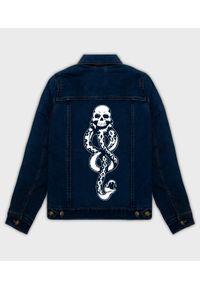 MegaKoszulki - Kurtka jeansowa damska Deatheater. Materiał: jeans. Wzór: nadruk. Sezon: wiosna. Styl: klasyczny