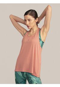 4f - Koszulka bez rękawów do jogi. Materiał: dzianina. Długość rękawa: bez rękawów. Sport: joga i pilates