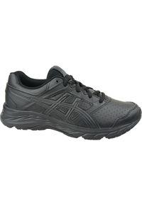 Czarne buty sportowe Asics w kolorowe wzory, z cholewką