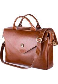 Brązowa torba na laptopa FELICE