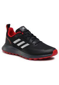 Adidas - Buty adidas - Runfalcon 2.0 Tr FZ3577 Cblack/Silvmt/Gresix. Kolor: czarny. Materiał: materiał. Szerokość cholewki: normalna. Sport: fitness