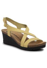 Żółte sandały Dr. Brinkmann