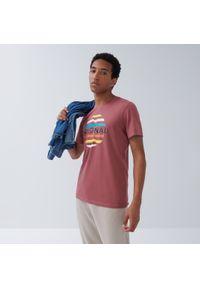 House - Koszulka z nadrukiem i napisem Original - Różowy. Kolor: różowy. Wzór: napisy, nadruk