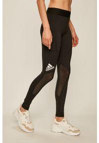Czarne legginsy adidas Performance z nadrukiem