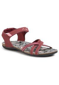 Czerwone sandały Elbrus na co dzień, casualowe