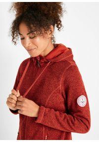 Bluza rozpinana z polaru, długi rękaw bonprix kasztanowy czerwony - ceglastoczerwony. Kolor: czerwony. Materiał: polar. Długość rękawa: długi rękaw. Długość: długie