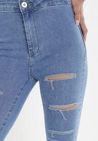 Born2be - Niebieskie Jeansy Skinny Samaia. Kolor: niebieski. Materiał: jeans