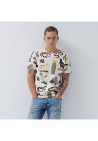 House - Koszulka z pustynnymi motywami - Kremowy. Kolor: kremowy