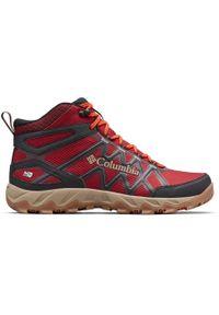 Czerwone buty trekkingowe columbia