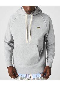 Lacoste - LACOSTE - Szara bluza oversize z kapturem. Typ kołnierza: kaptur. Kolor: szary