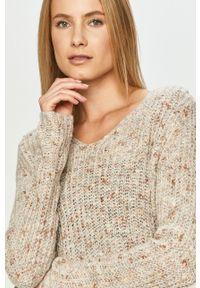 Szary sweter Jacqueline de Yong długi, z długim rękawem