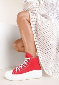 Renee - Czerwone Trampki Lamisia. Kolor: czerwony. Materiał: materiał