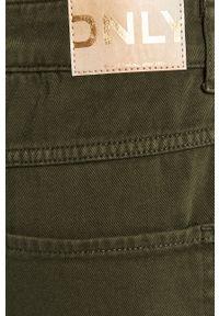 Zielone jeansy only z podwyższonym stanem