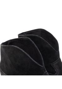 Badura - Botki BADURA - 7824-69-113-M Czarny. Kolor: czarny. Materiał: welur, skóra. Obcas: na obcasie. Wysokość obcasa: średni