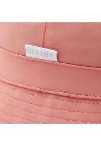 Rains - Kapelusz RAINS - Bucket Hat 2001 Coral. Kolor: różowy. Materiał: poliester, materiał