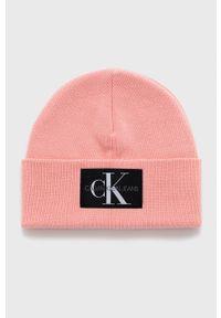 Calvin Klein Jeans - Czapka. Kolor: różowy