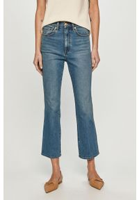 Niebieskie jeansy bootcut Tory Burch