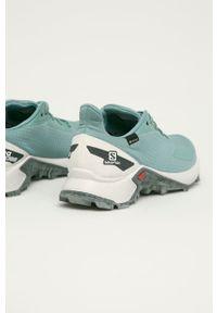 salomon - Salomon - Buty Alphacross Blast GTX. Nosek buta: okrągły. Zapięcie: sznurówki. Kolor: turkusowy. Materiał: guma. Technologia: Gore-Tex